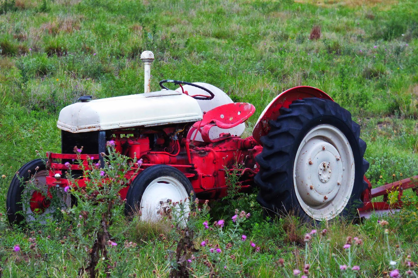 the retired tractor