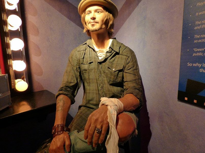 johnny depp wax statue