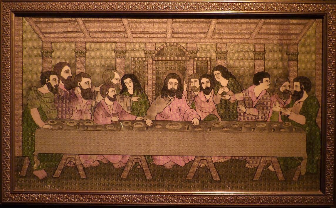 last supper made up of stamps