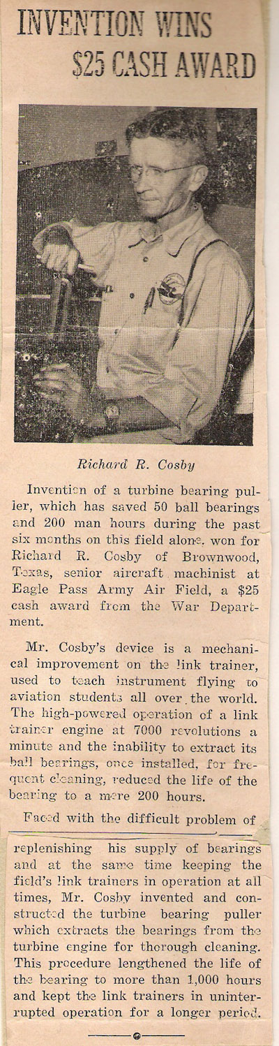 Richard Roy Cosby Inventor 1941
