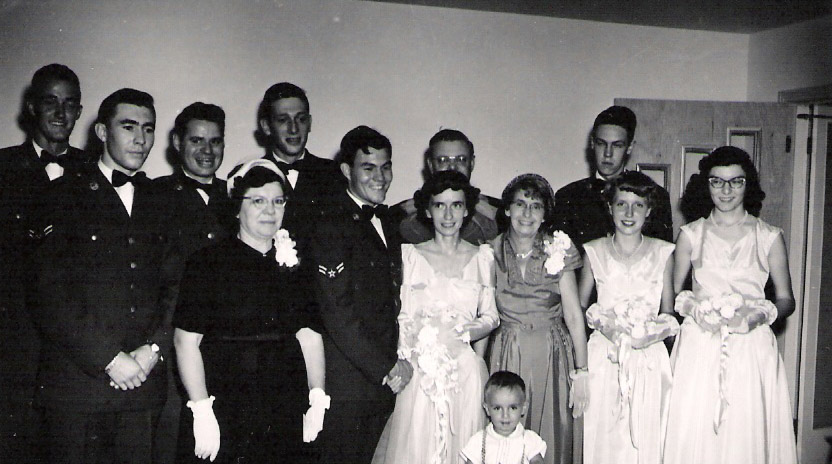 James E Dobson and Jean Cosby wedding party