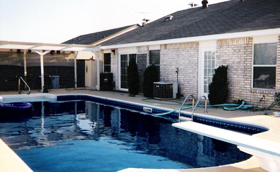 first home in watauga   pool