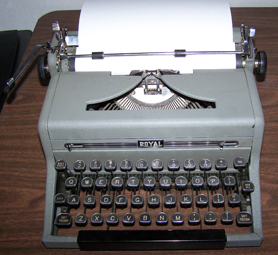the royal quiet deluxe typewriter circa 1954