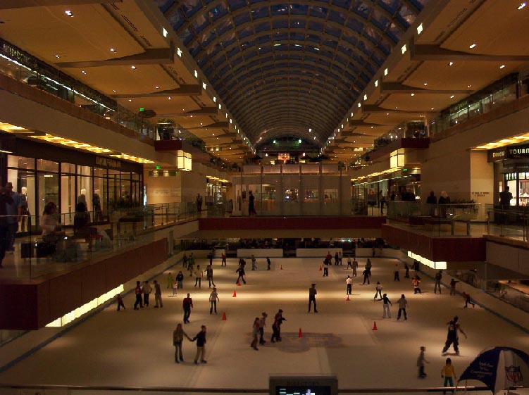houston texas   galleria ice skating rink