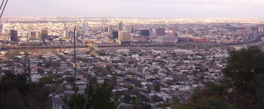 monterrey mexico   city view from mountain