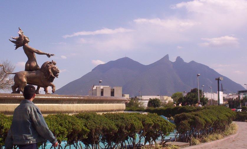 monterrey mexico   mountain and fountain