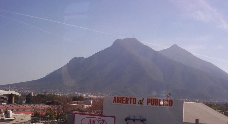 monterrey mexico   mountain from train