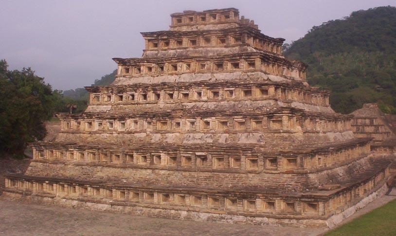 El Tajin veracruz mexico   Pyramid Of The Niches From Behind