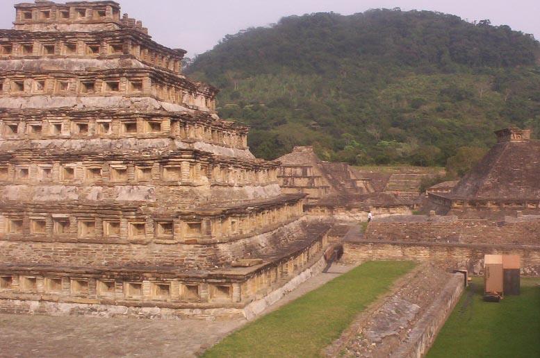 El Tajin veracruz mexico   Pyramid Of The Niches From Behind 2