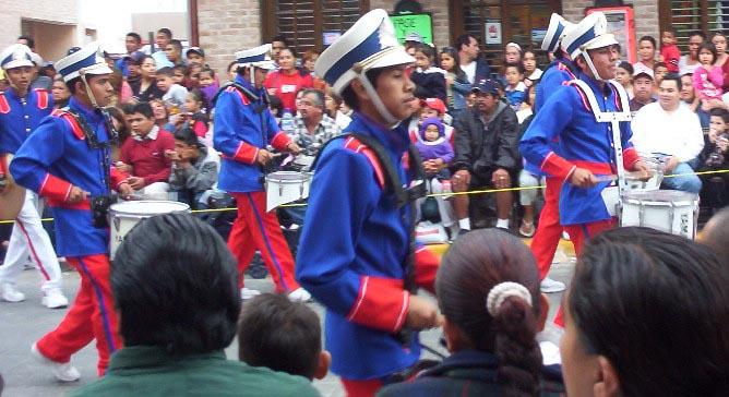Matamoros Tamaulipas Mexico   Charros Parade   Blue Coat Band