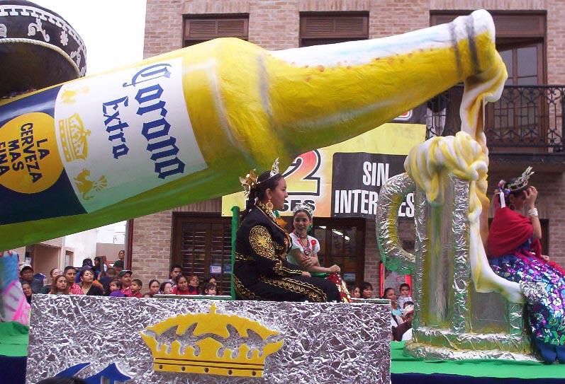 Matamoros Tamaulipas Mexico   Charros Parade   Corona Float