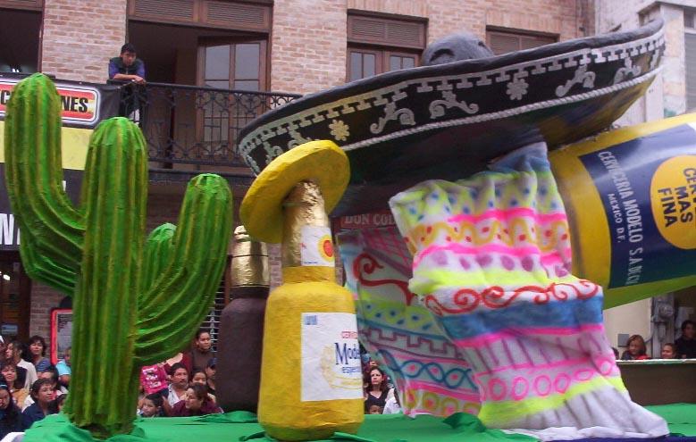 Matamoros Tamaulipas Mexico   Charros Parade   Corona Float 2