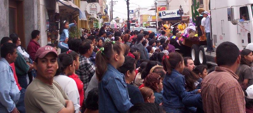 Matamoros Tamaulipas Mexico   Charros Parade   Crowd