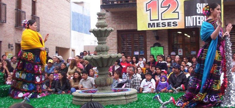 Matamoros Tamaulipas Mexico   Charros Parade   Fountain On Float
