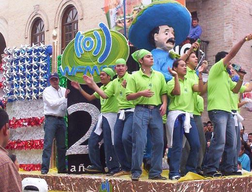 Matamoros Tamaulipas Mexico   Charros Parade   Radio station Float