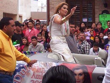 Matamoros Tamaulipas Mexico   Charros Parade   Singer Actress Dulce
