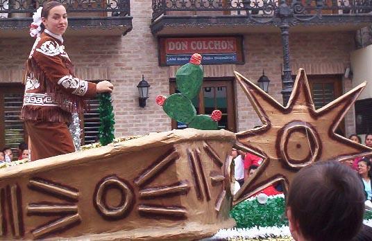Matamoros Tamaulipas Mexico   Charros Parade   Spur Float