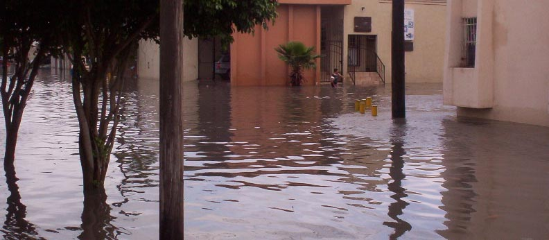 Matamoros Tamaulipas Mexico   Flooded Streets