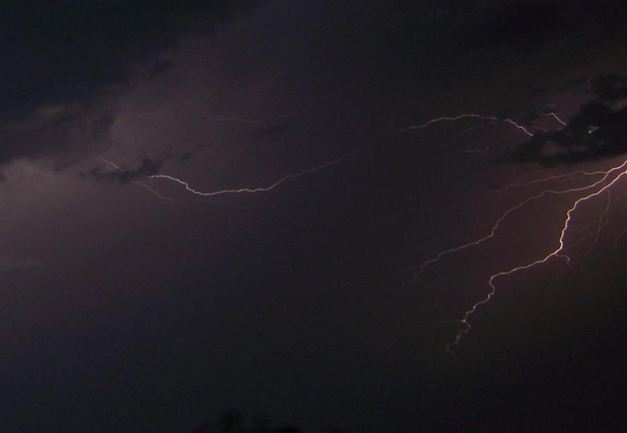 lightning flashing across medina county
