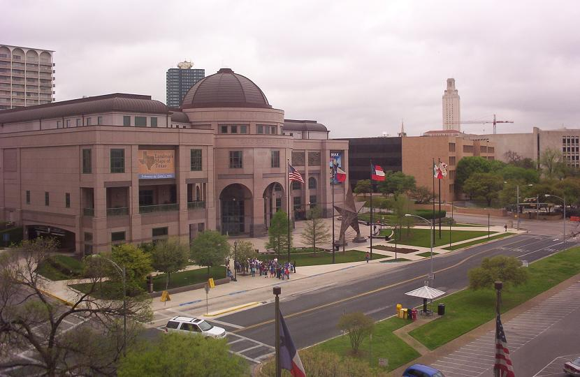 t4texas state history museum from texas education agency building