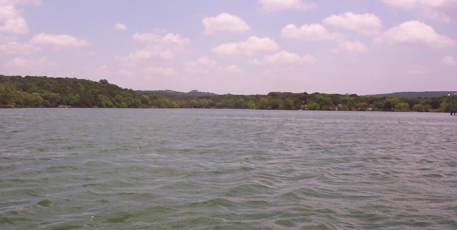 Inks Lake near Burnet Texas   canoe view