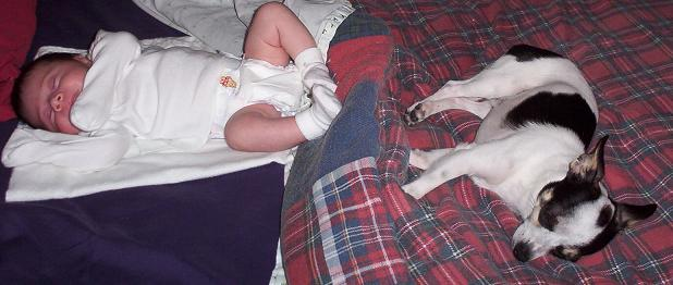 anna and toby sleeping