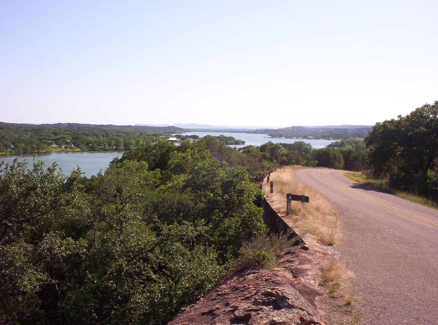 looking out over inks lake state park