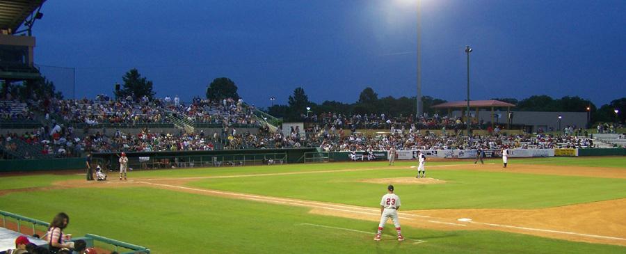 wolff stadium springfield cardinals up to bat against san antonio missions