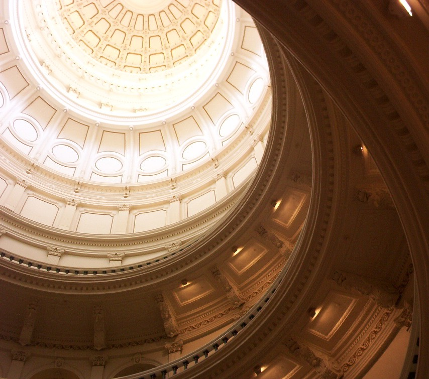 Looking up within the capitol building Austin TX 2