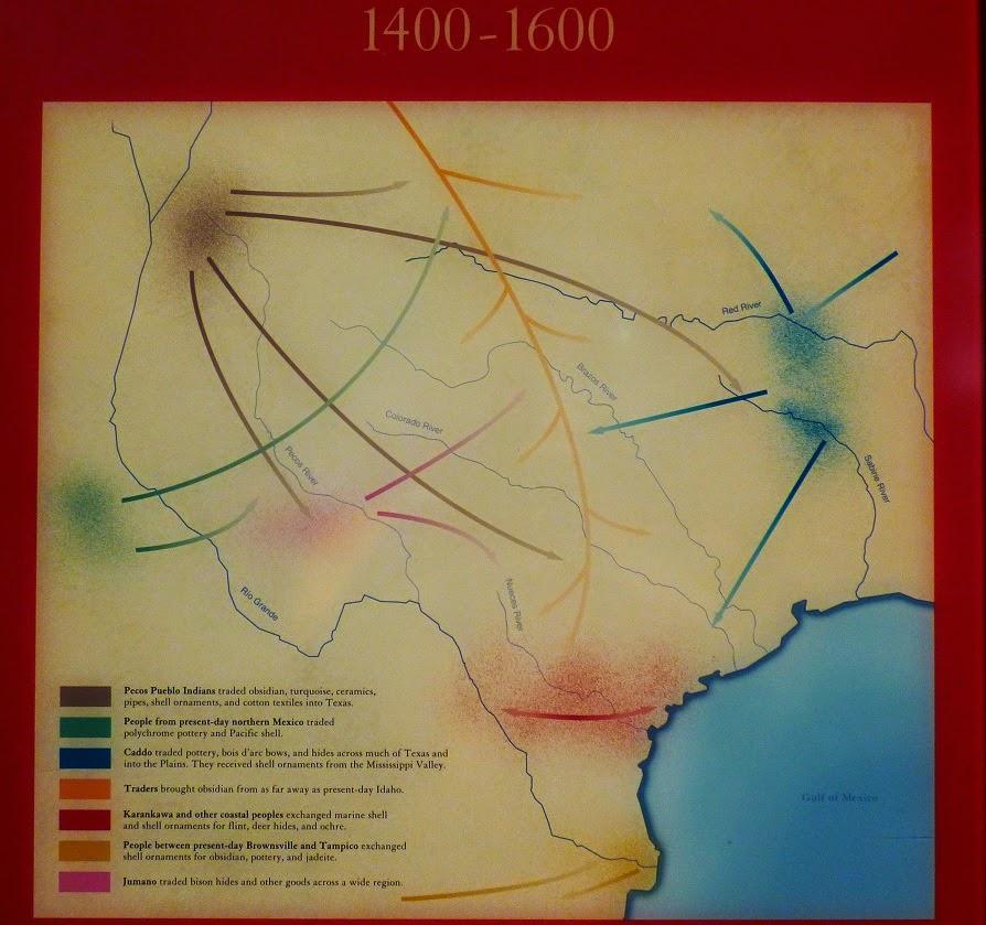trade routes of texas1400 1600