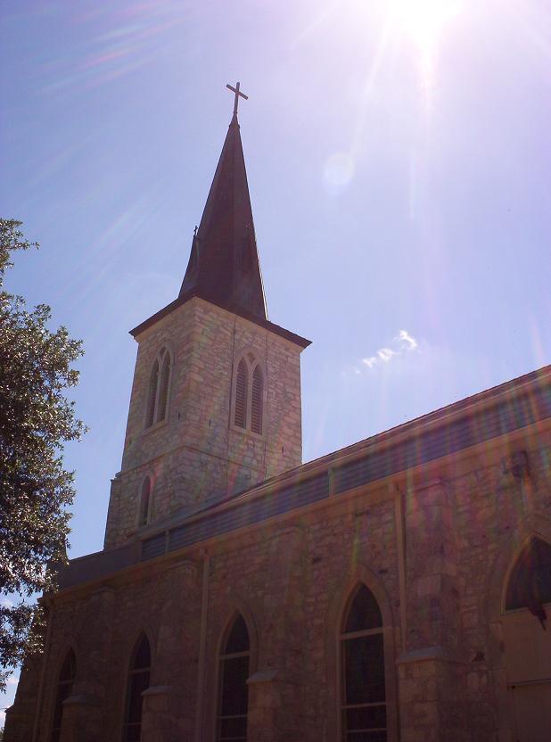st louis church steeple in castroville