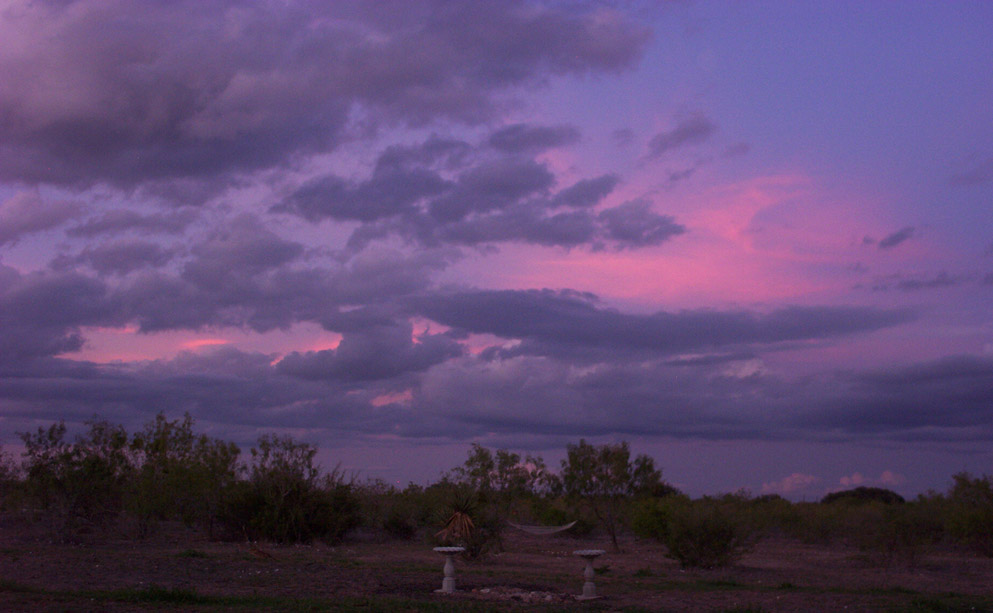 colorful september evening sky in hondo texas