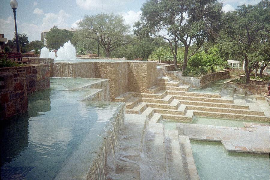 fountains near hemisfair park tower san antonio texas
