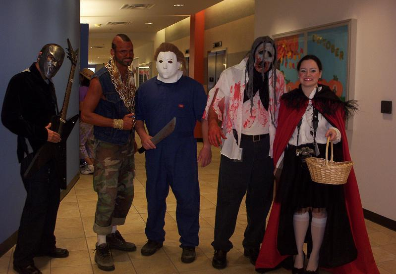 MR T MICHAEL MYERS LITTLE RED RRIDING HOOD AND OTHERS