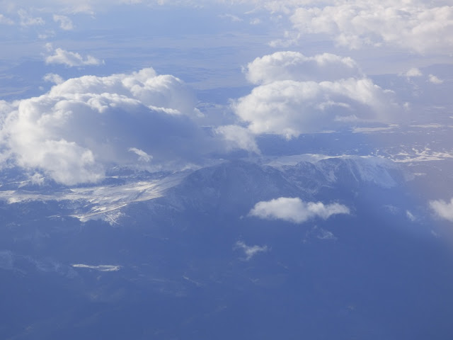 mountain from airplane
