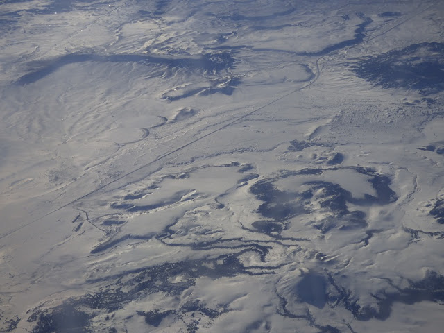 snowscape from air