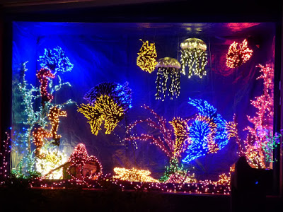 christmas lights aquarium