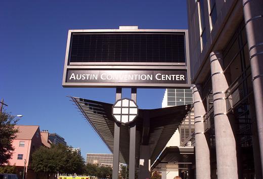 austin auto show 2005 convention center sign