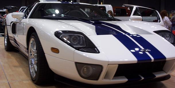 austin auto show 2005 ford gt front