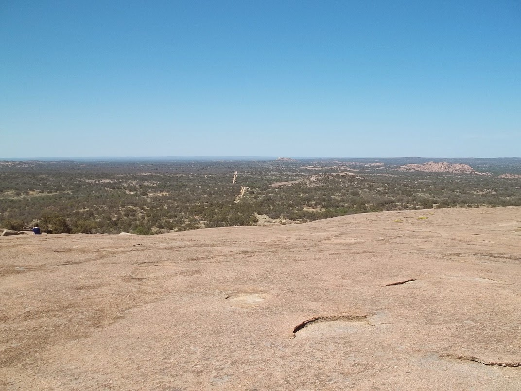 enchanted rock summit facing north